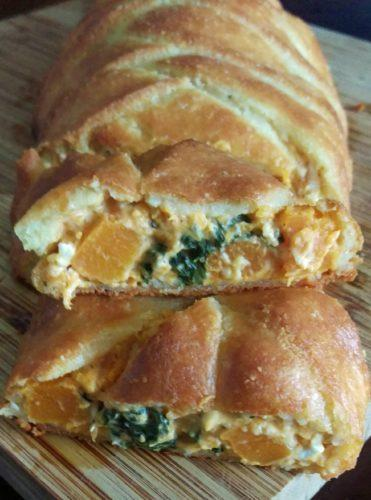 Low Carb herbstliche Teigrolle