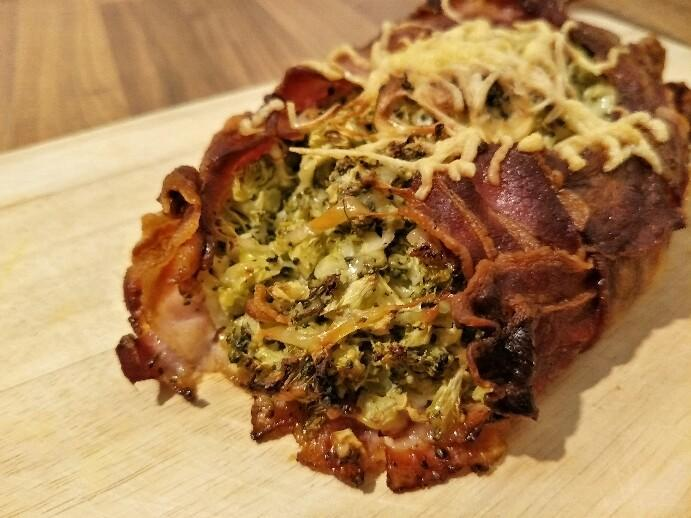 Low Carb Brokkoli-Bacon Nest