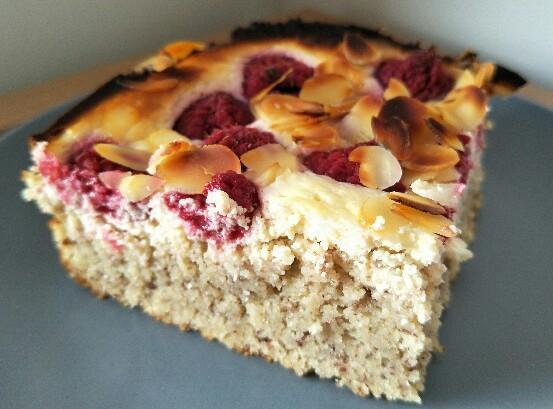 Low Carb'd Himbeer Joghurt Kuchen