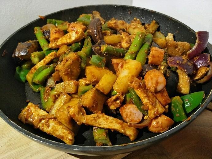 Low Carb schnelle Gemüsepfanne