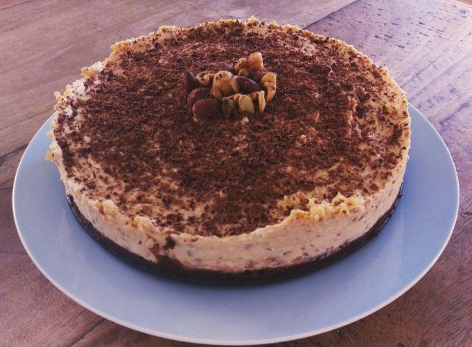 Low Carb'd Erdnussbutter-Käsekuchen