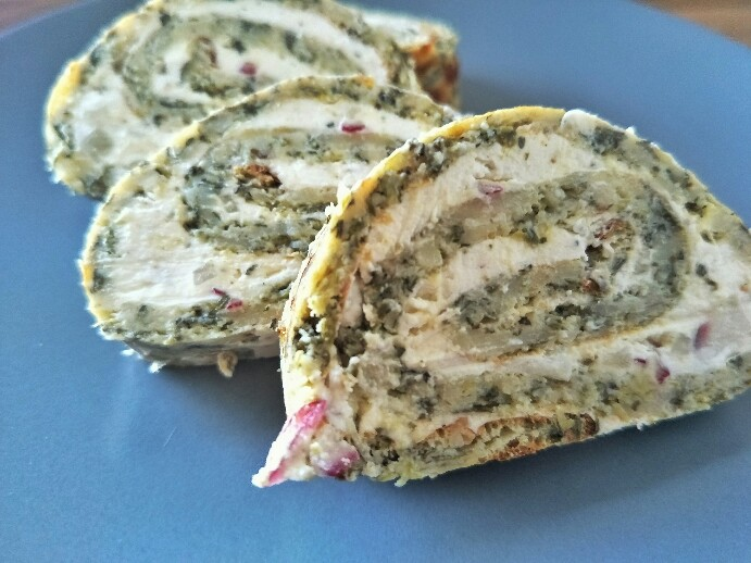Low Carb'd Spinat Pinwheels