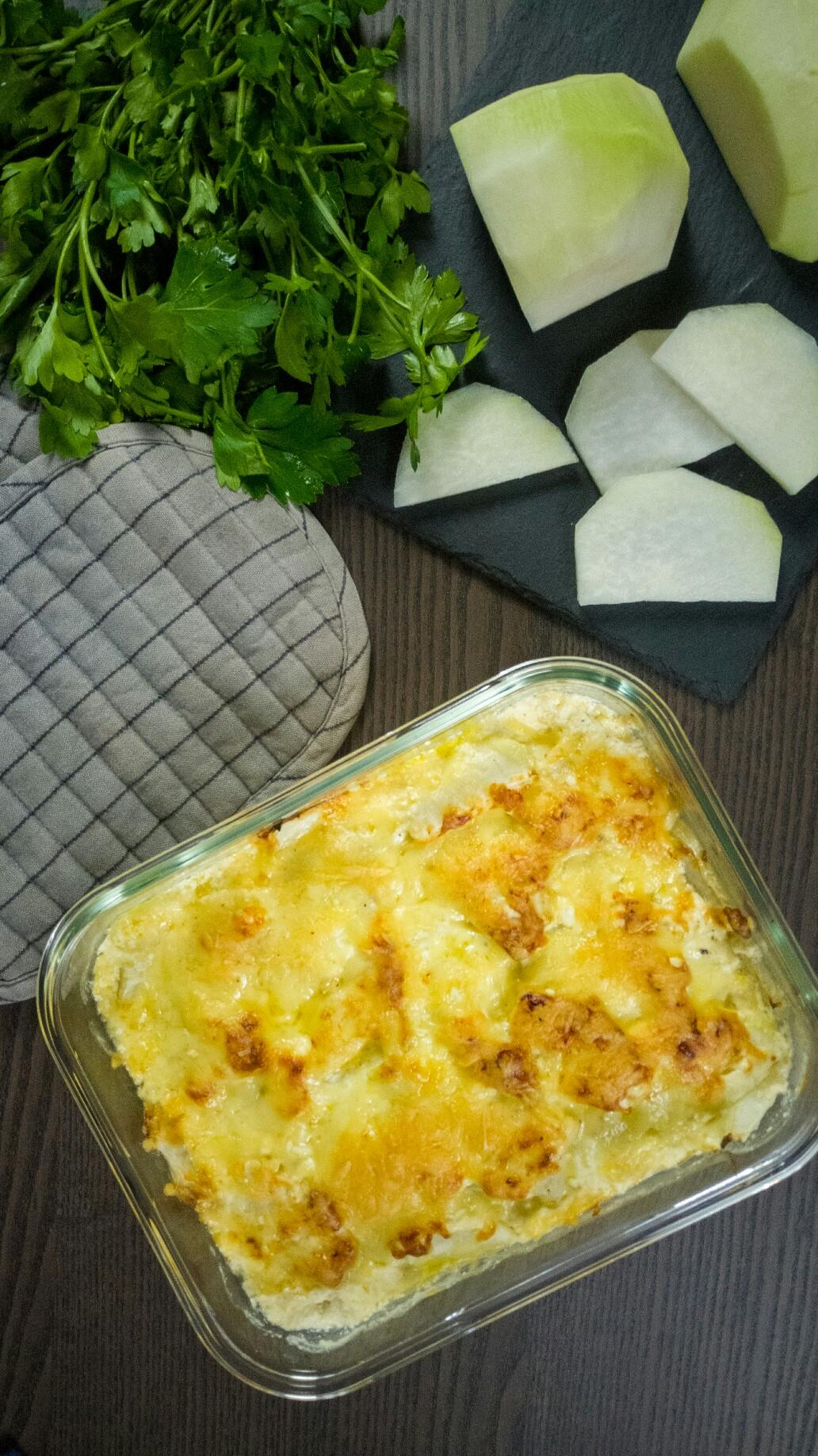 Low Carb Kohlrabigratin